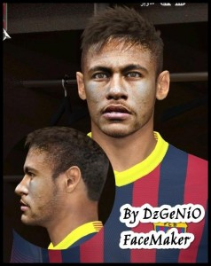 Download Neymar Da Silva PES 2014 Face By DzGeNiO