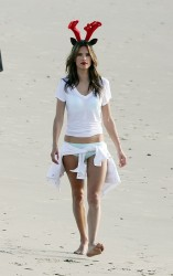 Alessandra Ambrosio - Victoria's Secret photoshoot in LA 12/16/13
