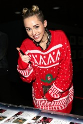 Miley Cyrus -  93.3 FLZ's 2013 Jingle Ball in Tampa 12/18/13