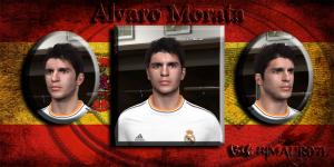 PES 2014 Alvaro Morata Face by BimaHR07L