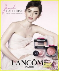 Lily Collins - Face of Lancome Paris Spring 2014 Collection