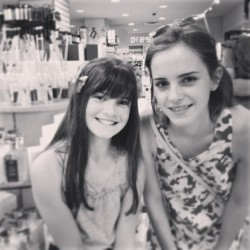 Emma Watson With a Fan in New York City