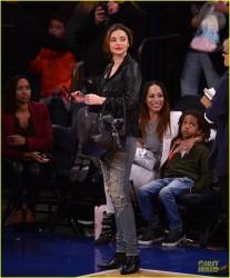 Miranda Kerr - Raptors vs Knicks game in NYC 12/27/13
