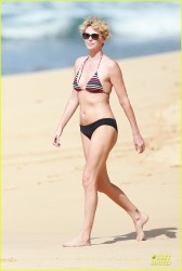 Charlize Theron Wearing a Bikini in Hawaii on December 30, 2013