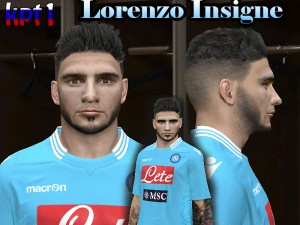 PES 2014 Lorenzo Insigne Face by kpt1
