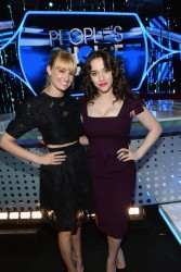 Kat Dennings & Beth Behrs - People's Choice Awards Press Day in LA 1/6/14