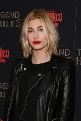 "Hailey Baldwin - ""The Legend of Hercules"" Premiere in NYC 1/6/14"