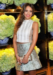 Jessica Alba at the Tory Burch Rodeo Drive Flagship Opening in Beverly Hills on January 14, 2014