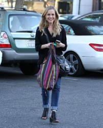 Julie Benz - out in Beverly Hills 1/16/14
