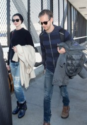 Anne Hathaway - at LAX Airport 1/18/14