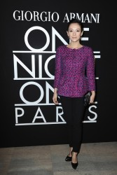 Zhang Ziyi - Giorgio Armani Prive fashion show in Paris 1/21/14