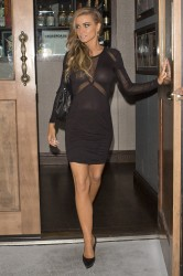 Carmen Electra - at Crossroads Restaurant in West Hollywood 1/21/14