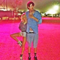 Emily Osment Leggy at Coachella