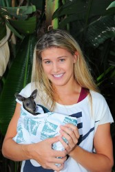 Eugenie Bouchard - at the 2014 Australian Open 1/21/14