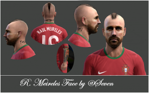 Download PES 2013 Raul Meireles Face by @Seven
