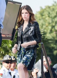 Anna Kendrick - on the set of Extra in Universal City 1/29/14