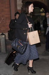 Keira Knightley - Eurostar terminal in London 1/30/14