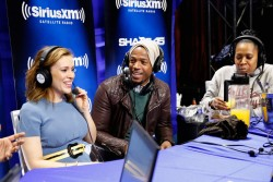 Alyssa Milano -  SiriusXM at Super Bowl XLVIII Radio Row in NYC 1/31/14
