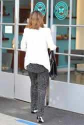 Jessica Alba - Arriving to her office in Santa Monica 1/31/14