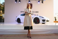 Maria Sharapova - Porsche presentation in Sochi 2/4/14