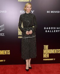 "Cate Blanchett - ""The Monuments Men"" Premiere in NYC 2/4/14"