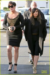 Kim & Khloe Kardashian - Out in Woodland Hills 2/4/14