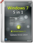 Windows 7 SP1 5in1 x86 Update 03.02.2014 (RUS/2014)