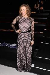 Alyssa Milano - Tadashi Shoji F/W 2014 Fashion Show in NYC 2/6/14