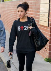 Brenda Song - leaving the gym in Studio City 2/8/14