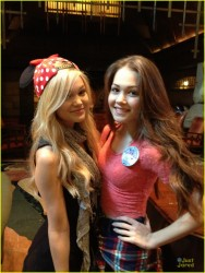 Olivia Holt and Kelli Berglund at Disneyland in Anaheim 2/8/14