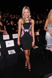 Katrina Bowden - Badgley Mischka Fashion Show in NYC 2/11/14