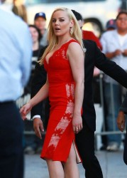 Abbie Cornish - at Jimmy Kimmel Live in Hollywood 2/12/14