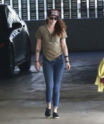 Kristen Stewart - at an office building in West Hollywood 2/13/14