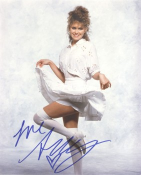 Ami Dolenz: White Dress & Thigh High Stockings: HQ x 1