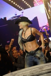 Rita Ora - Performing In a Bra at the Philipp Plein 2014 Fashion Show After Party in Milan 2/23/14