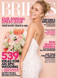Hayden Panettiere in Brides Magazine April/May 2014