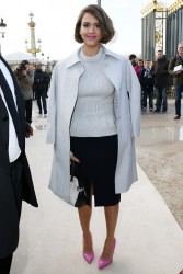 Jessica Alba - Nina Ricci F/W 2014-2015 Fashion Show in Paris 2/27/14