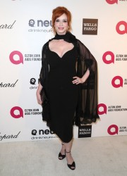 Christina Hendricks at the Elton John Oscar Party in Hollywood on March 2, 2014