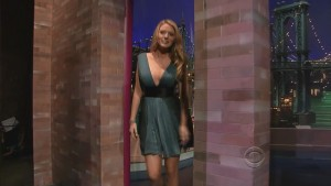 Blake Lively on Late Show with David Letterman 2008 720p