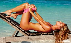 Nina Agdal - Sports Illustrated Swimsuit 2014 Outtakes