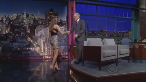 Irina Shayk at Late Show With David Letterman 720p
