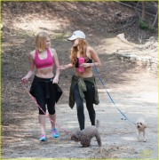 Bella Thorne & Claudia Lee - Hiking in Runyon Canyon 3/07/14
