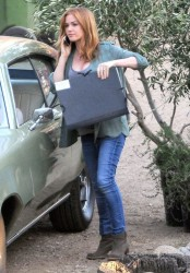 "Isla Fisher - On the set of ""Visions"" in LA 3/13/14"