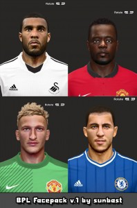 Download PES 2014 BPL Facepack v.1 by sunbast