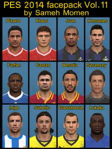 Download PES2014 Face Pack vol. 11 by Sameh Momen