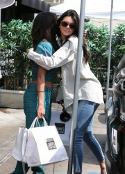Kendall Jenner & Selena Gomez - Hanging out in LA 3/21/14