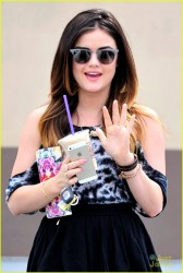 Lucy Hale - Getting coffee in LA 3/21/14