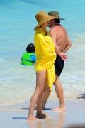 Heidi Klum | Bikini Candids on the Beach in the Bahamas | March 23 | 44 pics