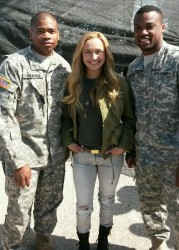 Hayden Panettiere at Fort Campbell on March 24, 2014