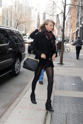 Taylor Swift - Out and About and Very Leggy in New York City 03/25/14